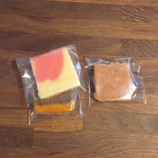 Slab Wedding Fudge Favour - individually wrapped
