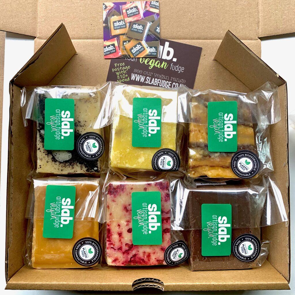 Slab Artisan Fudge - Vegan Postal Box Image